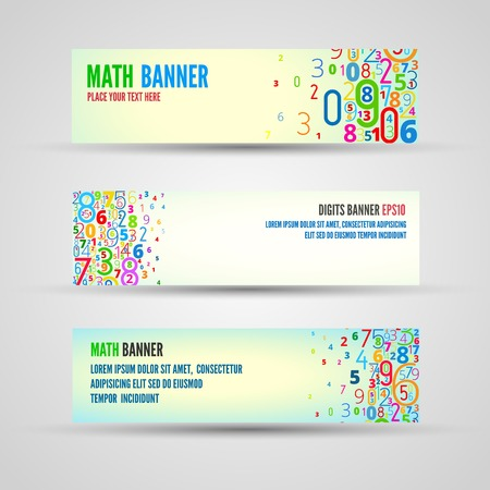 cryptogram: banners from numbers Illustration
