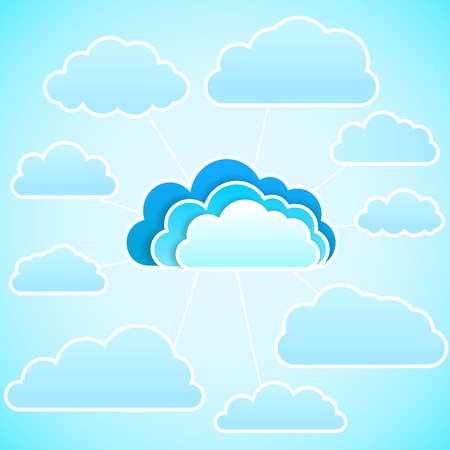wheather forecast: Cloud icon illustration