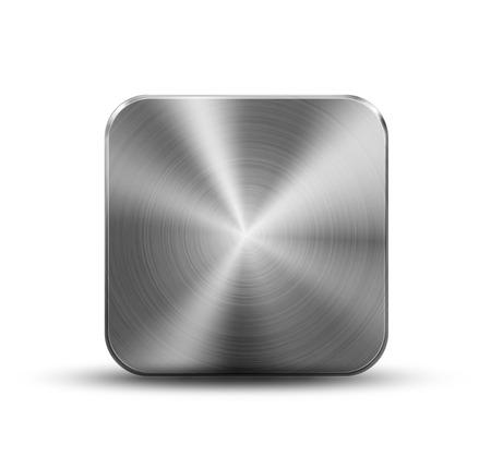 objetos cuadrados: Botón de metal plaza Vectores