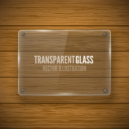Glass framework and wood texture Vector