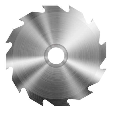 circular saw: Realistic circular saw Illustration