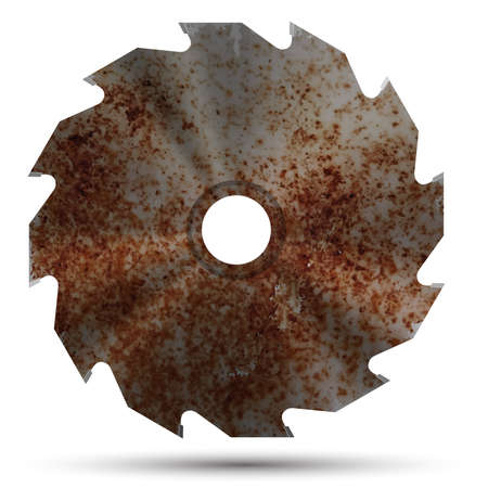 Realistic circular saw Vettoriali