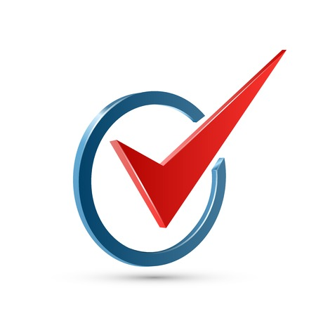 check symbol: Red check mark Illustration