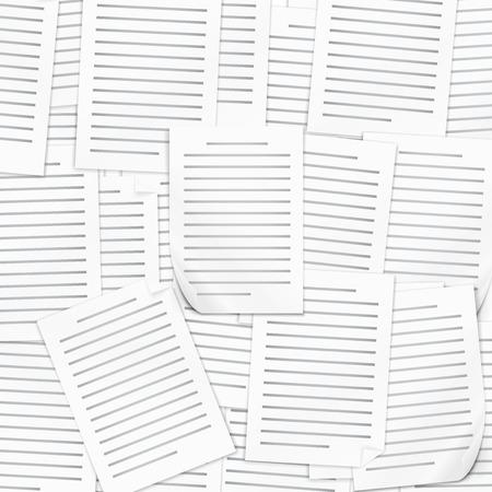 Many documents Illustration