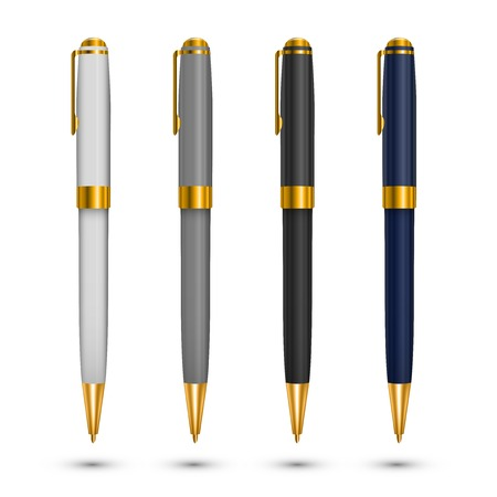 writing instruments: Gold pen