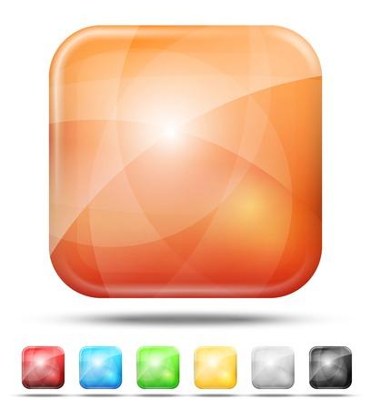 amber coloured: Web Illustration