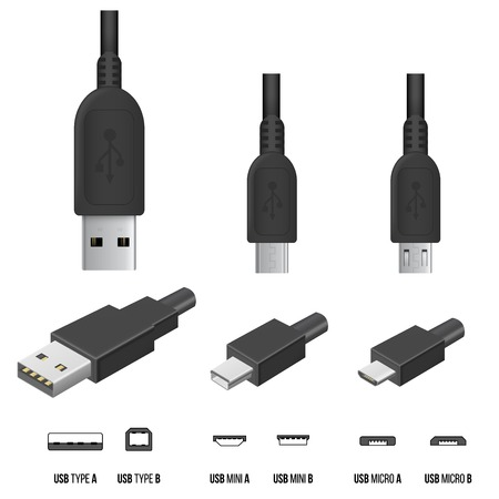 network cable: USB Plugs Illustration