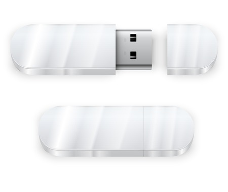 flash drive: White flash drive