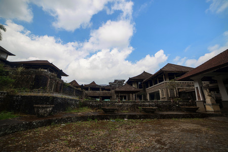 10 years: Mystical 10 years abandoned  hidden rotten hotel in Bali. Indonesia
