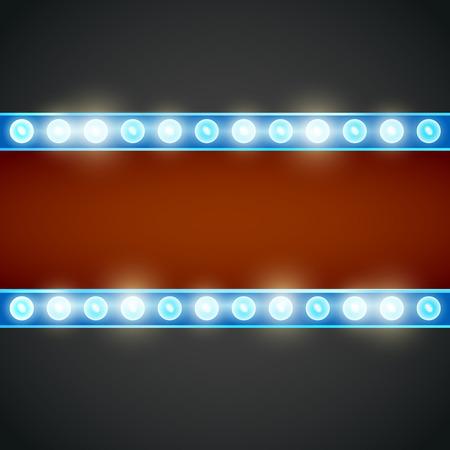 signboard form: Frame lamp Illustration