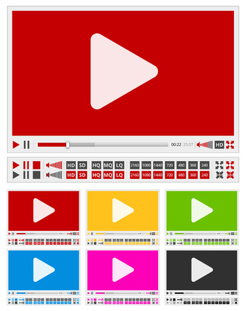 windows media video: video players Illustration
