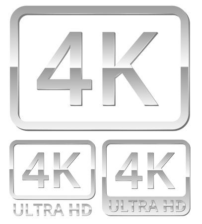 full hd: Ultra HD 4K icon
