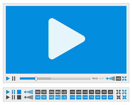 windows media video: Reproductor de video Vectores