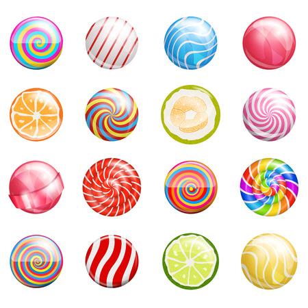 paletas de caramelo: lollipops Vectores