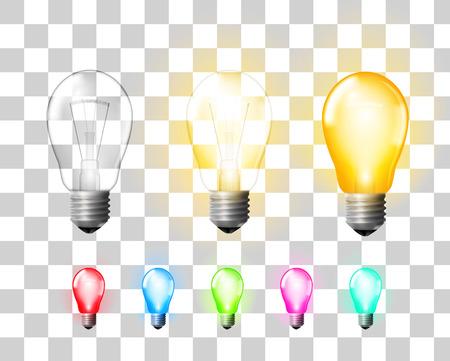 bombilla de luz: Lámpara Vectores