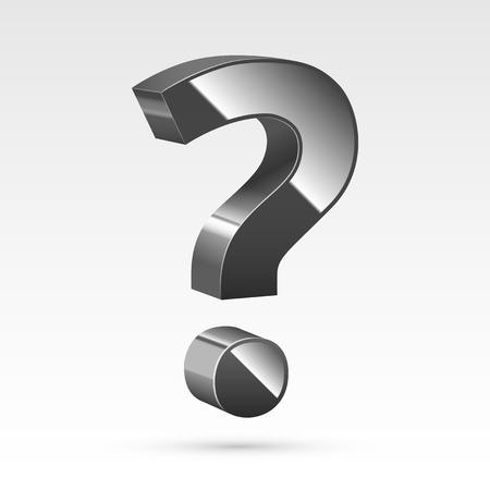 Question mark on white  Illustration
