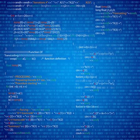 Program code Ilustração