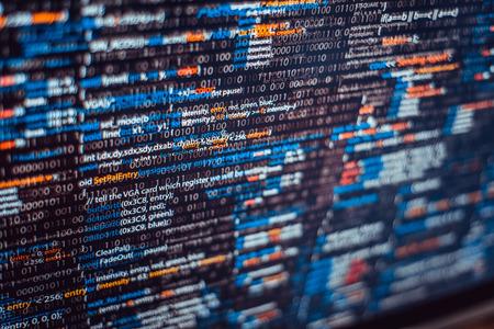 software solution: Program basic code  Stock Photo