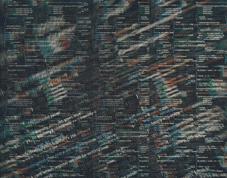 developing: basic Coding Stock Photo