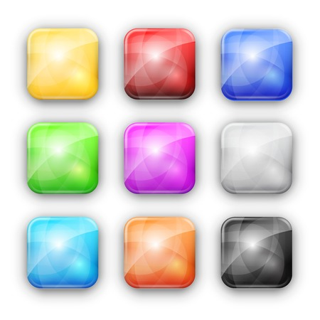 square buttons: Square buttons Illustration