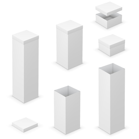small size: cardboard boxes Illustration