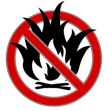 no fires sign: No fire sign