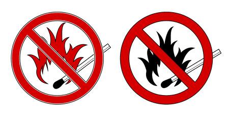 no fires sign: no smoking Illustration