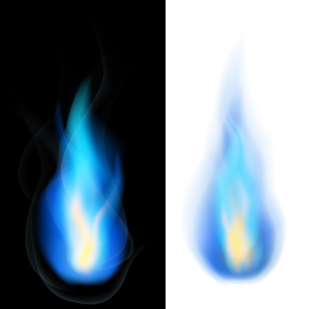 natural gas: Blue fire Illustration