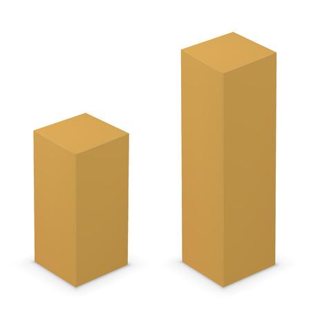 corrugated cardboard: Cardboard box Illustration