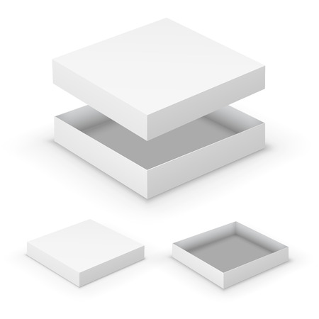white boxes: Open boxes