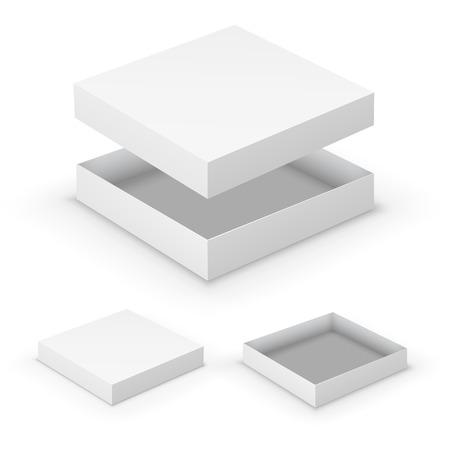 karton: Otwarte skrzynki Ilustracja