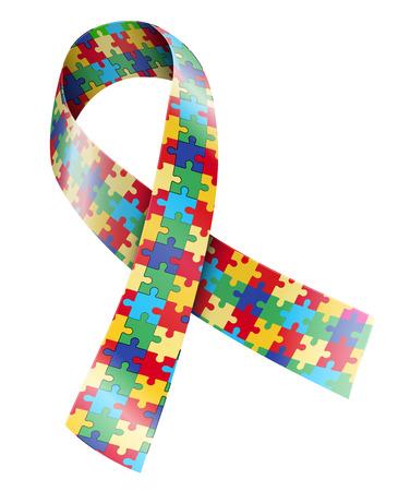 autism: Ribbon Illustration