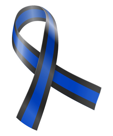 black and blue: Ribbon Illustration