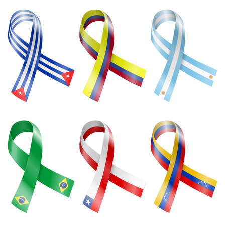 republic of colombia: Flag Ribbon