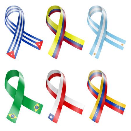flag pin: Flag Ribbon