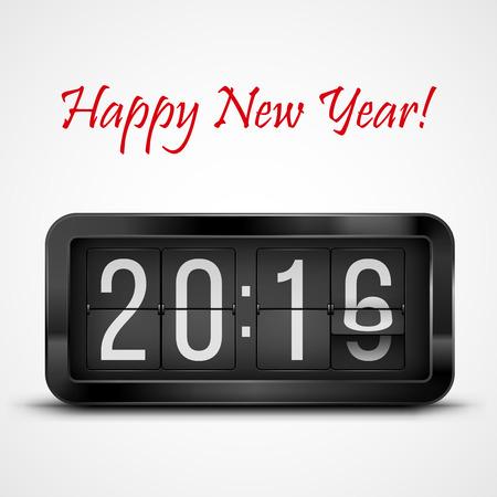 digital clock: New Year