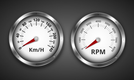 rev counter: Gauges