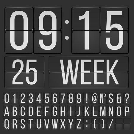 reloj: La fuente del tirón Vectores