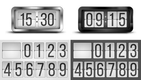 scoreboard timer: Clocks Illustration