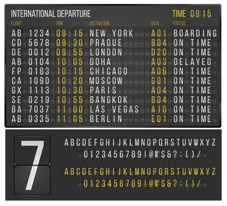 tabule: Tabulka letiště Ilustrace