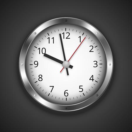 dark chrome: Clock on dark