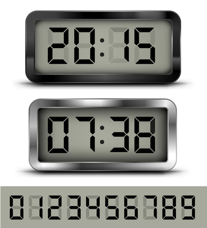 countdown clock: Digital clock t Illustration
