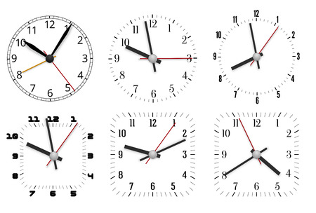 object with face: Clock design Illustration