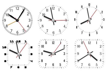 caritas pintadas: Diseño del reloj