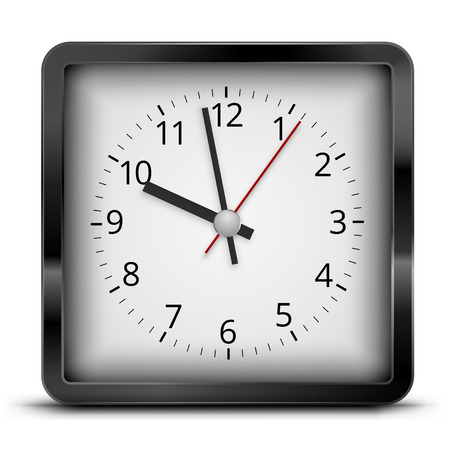 Square clock Vettoriali