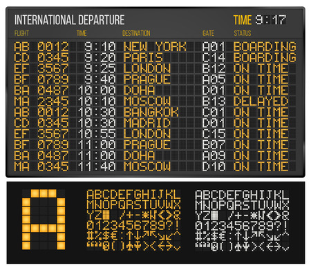 airport arrival: Airport board