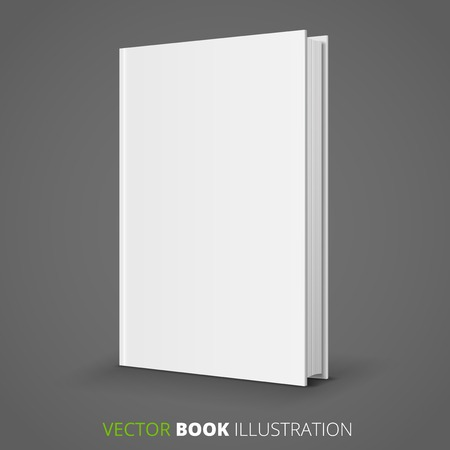 background cover: Blank  book over gray background