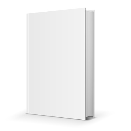Blank book cover. Vector illustration over white background