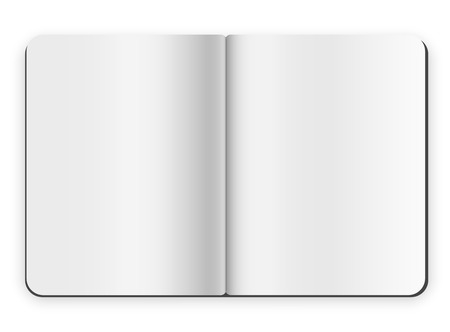 Blank opened copybook template