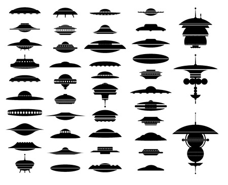 UFO, aliens space ships and orbital station